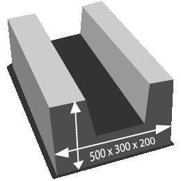 размеры п-образного блока